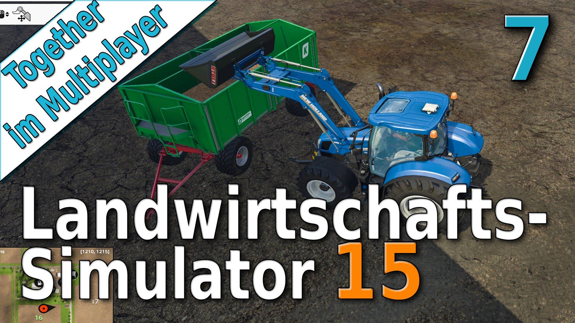 LS15 Multiplayer #7 Hackschnitzel verkaufen Landwirtschafts Simulator 15 von der  Server Farm