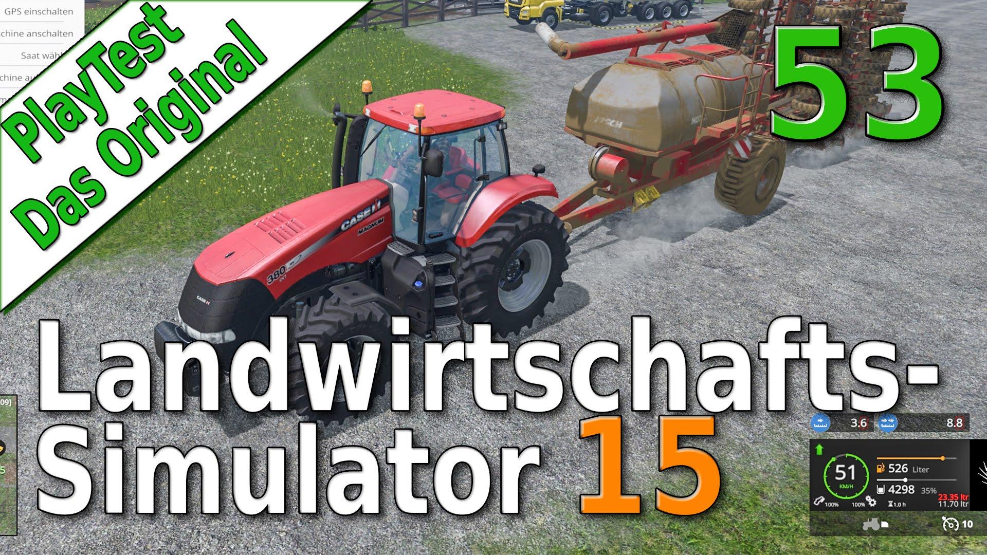 LS15 PlayTest #53 Mit dem Pflug Felder verbinden Landwirtschafts Simulator 15 deutsch HD