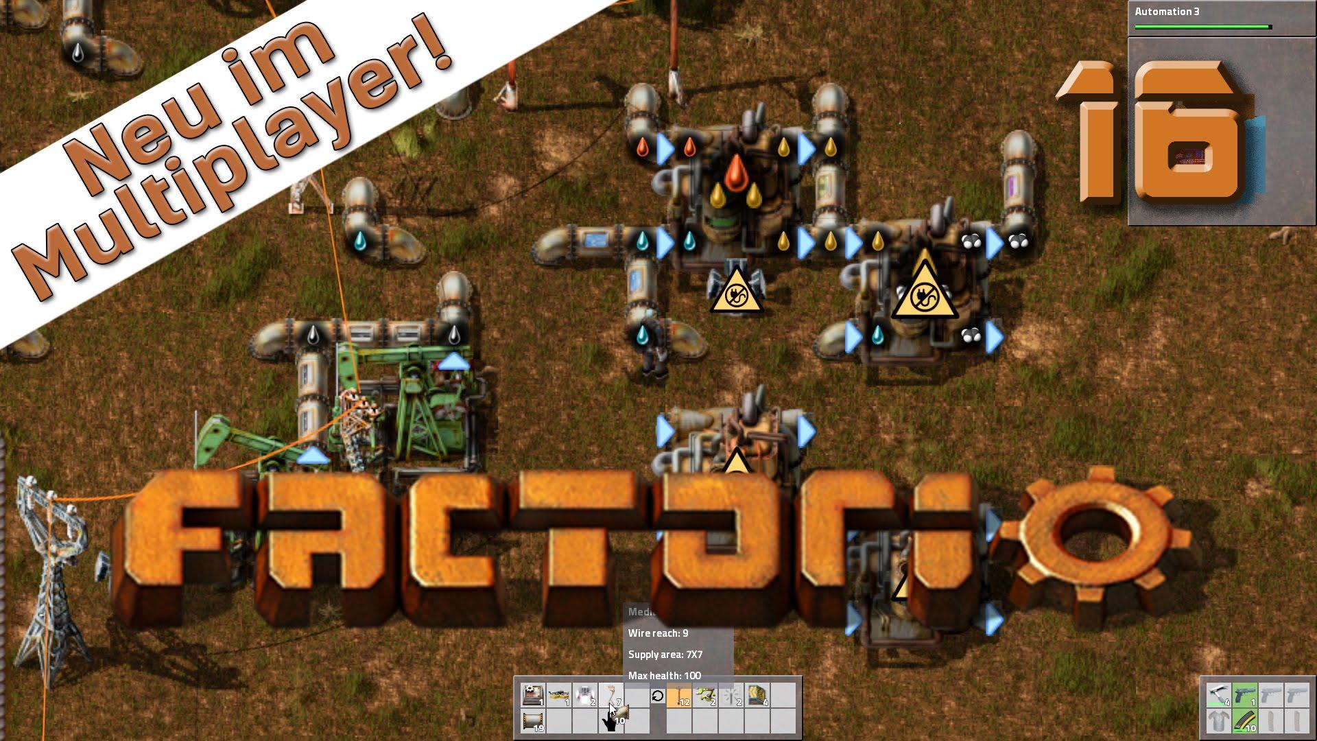 Factorio Multiplayer #16 Öl umwandeln leicht gebaut Der Industrie und Fabrik Simulator deutsch HD