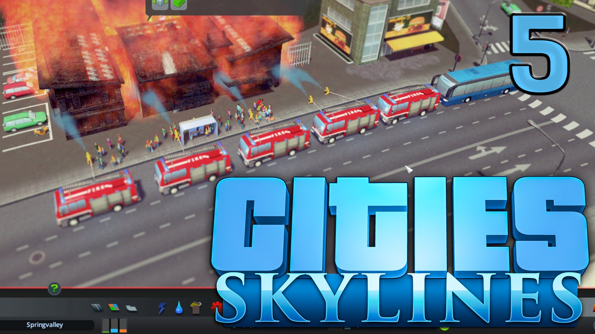 Cities Skylines #5 Buslinien und FEUER Gameplay deutsch HD