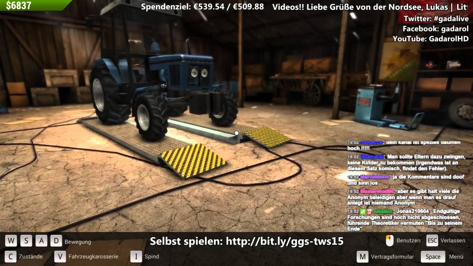 Der Traktor Werkstatt-Simulator 2015 #6 Die Kupplung im Eimer twitch Aufzeichnung deutsch HD