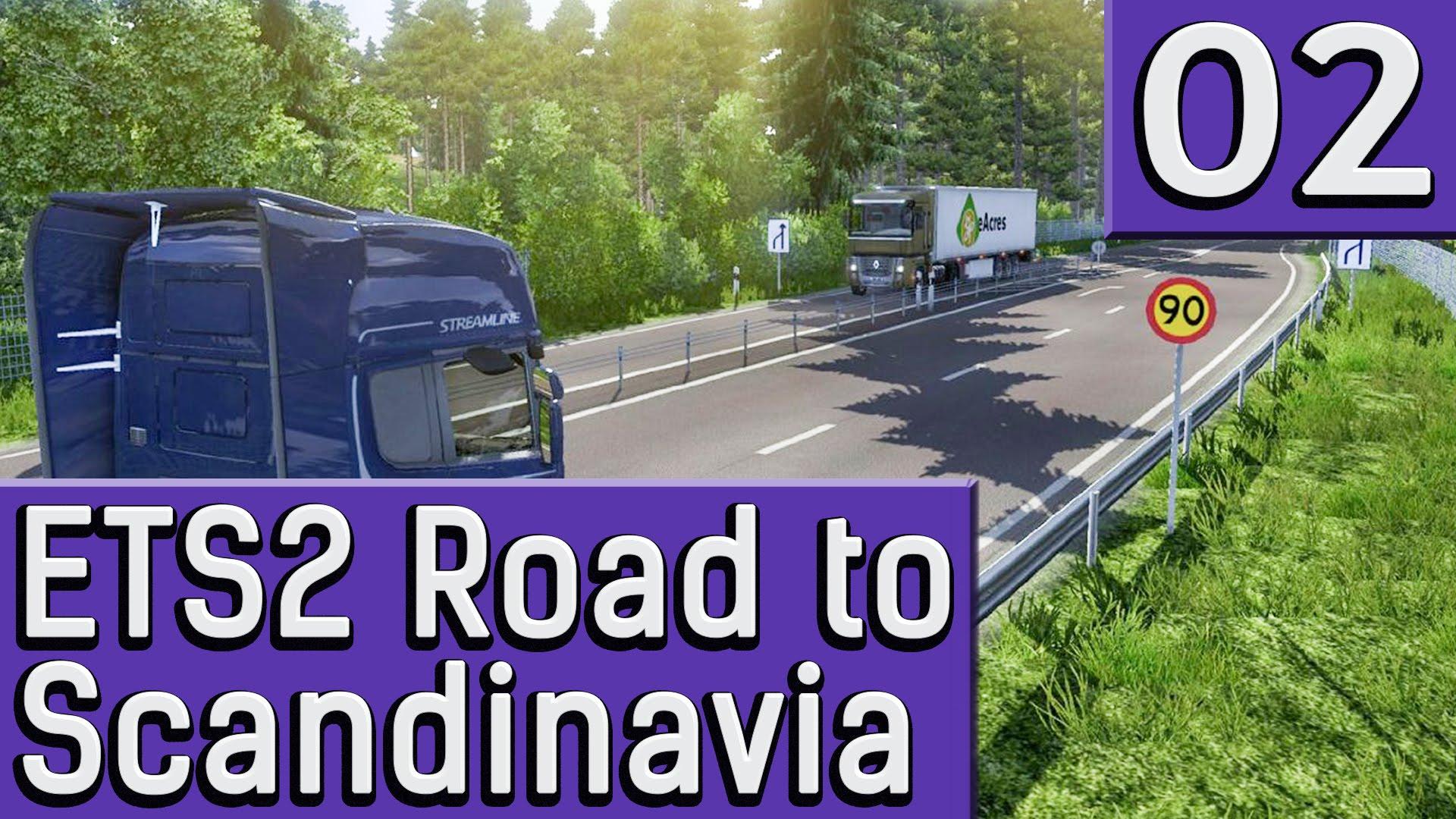 ETS2 Road to Scandinavia #2 Fast ganz ohne Unfall deutsch HD DLC Prweview