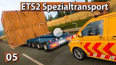 MEGA BOX SPEZIALTRANSPORT mit BEGLEITFAHRZEUG 🚚 Euro Truck Special Transport DLC ►ETS2 deutsch