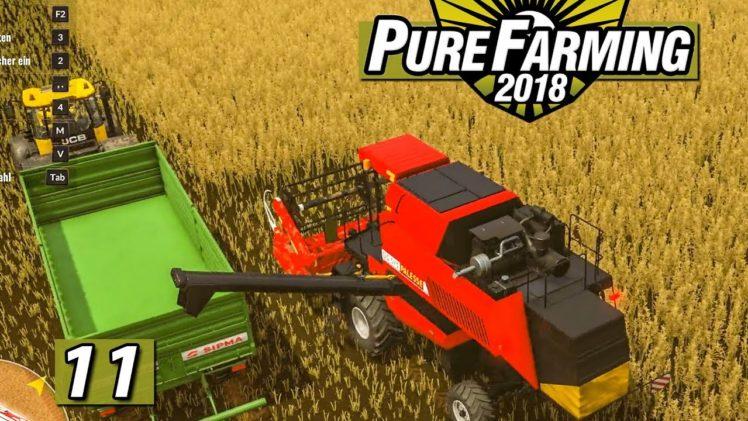 PURE FARMING 2018 🚜 Das Große RAPS ERNTEN ► #11 Landwirtschaft Weltweit deutsch